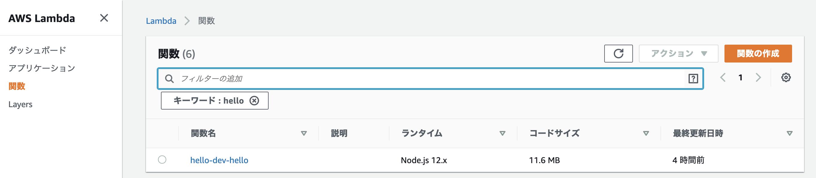 AWS Lambda入門 Node.js
