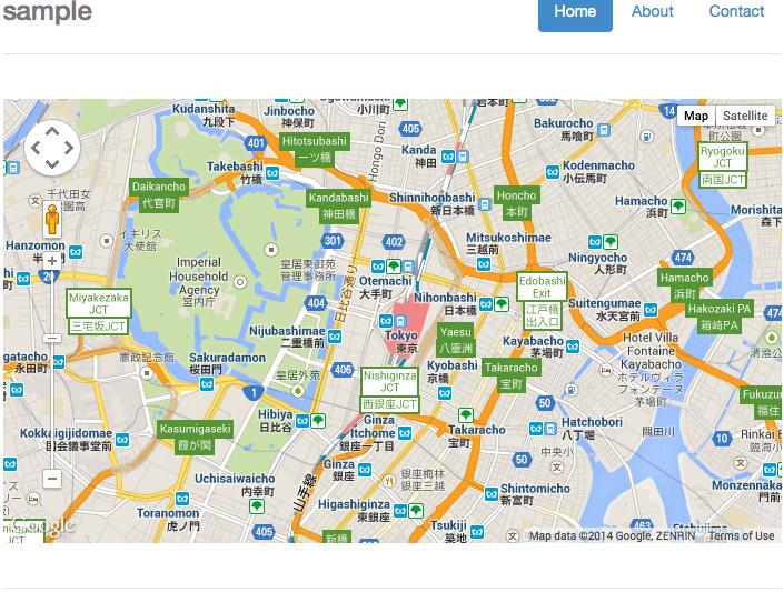 AngularJS で Google マップとか使ってみた