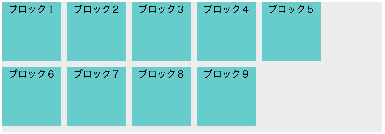 ブロック要素のリストの配置について