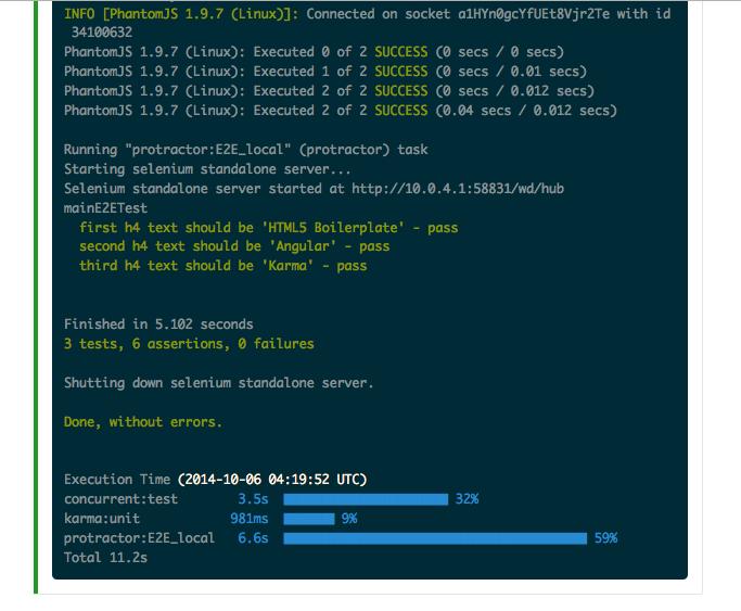 AngularJS の E2E テスト Protractor を CirlceCI で実行する