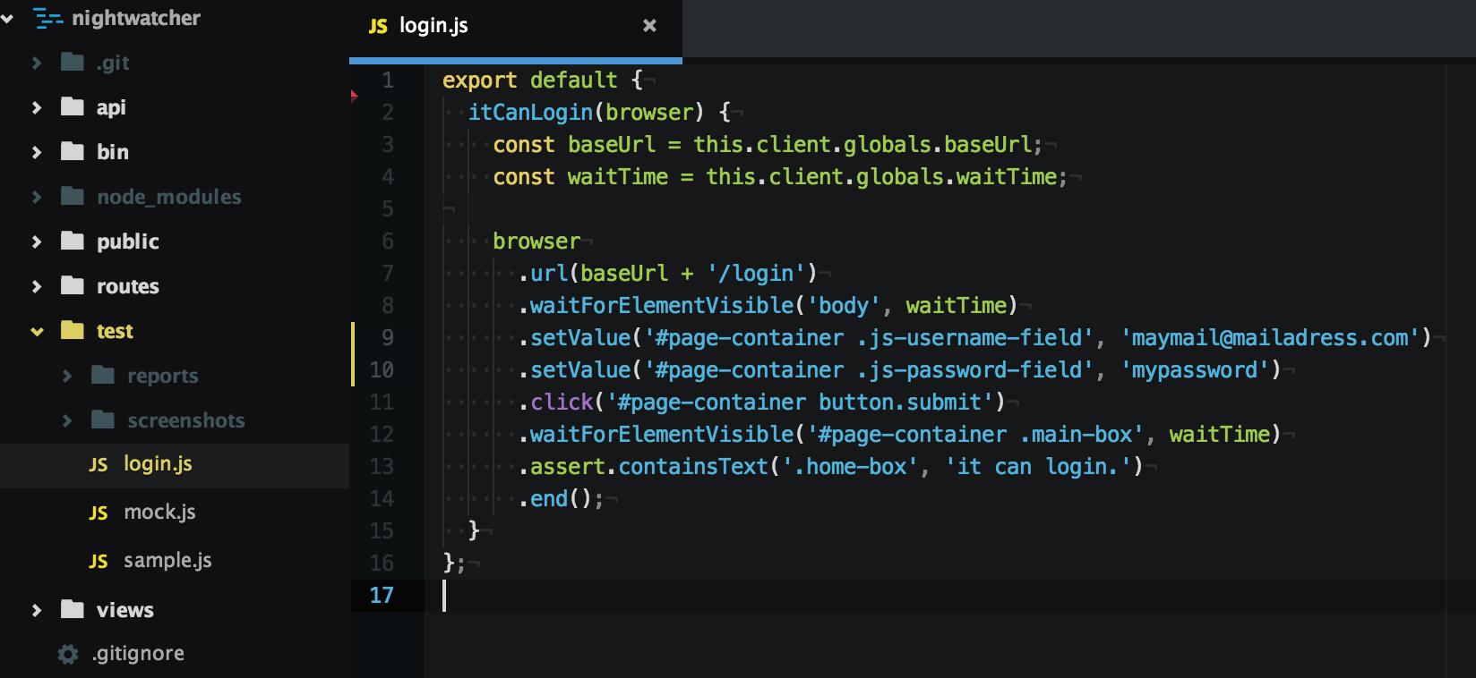 Nightwatch.jsをE2Eテストフレームワークとして実プロジェクトに適用する時のtipsまとめ